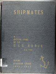 1953 Edition, Borie (DD 704) - Naval Cruise Book
