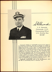 Page 10, 1954 Edition, Brinkley Bass (DD 887) - Naval Cruise Book online yearbook collection