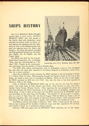 Page 7, 1954 Edition, Brinkley Bass (DD 887) - Naval Cruise Book online yearbook collection