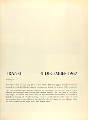 Page 13, 1968 Edition, Brister (DER 327) - Naval Cruise Book online yearbook collection