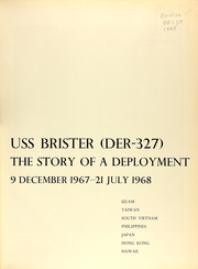 Page 7, 1968 Edition, Brister (DER 327) - Naval Cruise Book online yearbook collection