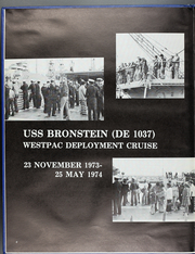Page 6, 1974 Edition, Bronstein (DE 1037) - Naval Cruise Book online yearbook collection
