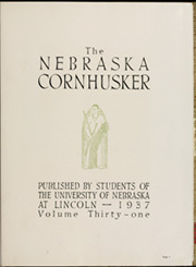 Page 9, 1937 Edition, University of Nebraska Lincoln - Cornhusker Yearbook (Lincoln, NE) online yearbook collection