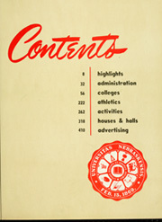 Page 11, 1951 Edition, University of Nebraska Lincoln - Cornhusker Yearbook (Lincoln, NE) online yearbook collection