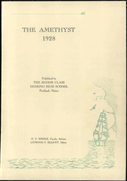 Page 7, 1928 Edition, Deering High School - Amethyst Yearbook (Portland, ME) online yearbook collection