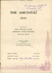 Page 5, 1931 Edition, Deering High School - Amethyst Yearbook (Portland, ME) online yearbook collection