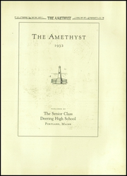 Page 7, 1932 Edition, Deering High School - Amethyst Yearbook (Portland, ME) online yearbook collection