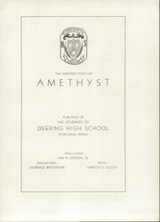 Page 7, 1946 Edition, Deering High School - Amethyst Yearbook (Portland, ME) online yearbook collection