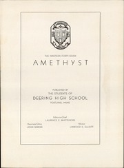 Page 5, 1947 Edition, Deering High School - Amethyst Yearbook (Portland, ME) online yearbook collection