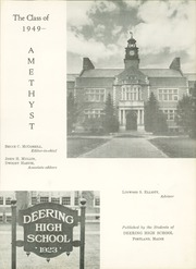 Page 7, 1949 Edition, Deering High School - Amethyst Yearbook (Portland, ME) online yearbook collection