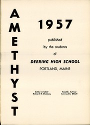 Page 5, 1957 Edition, Deering High School - Amethyst Yearbook (Portland, ME) online yearbook collection