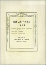 Page 3, 1953 Edition, Wells High School - Abenaki Yearbook (Wells, ME) online yearbook collection