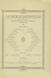 Page 3, 1932 Edition, Westbrook High School - Blue and White Yearbook (Westbrook, ME) online yearbook collection