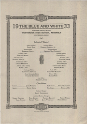 Page 3, 1933 Edition, Westbrook High School - Blue and White Yearbook (Westbrook, ME) online yearbook collection
