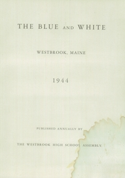 Page 5, 1944 Edition, Westbrook High School - Blue and White Yearbook (Westbrook, ME) online yearbook collection