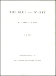 Page 7, 1956 Edition, Westbrook High School - Blue and White Yearbook (Westbrook, ME) online yearbook collection