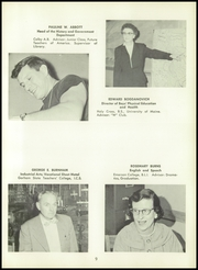 Page 13, 1958 Edition, Westbrook High School - Blue and White Yearbook (Westbrook, ME) online yearbook collection