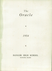 Page 5, 1954 Edition, Bangor High School - Oracle Yearbook (Bangor, ME) online yearbook collection