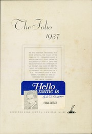 Page 5, 1937 Edition, Lewiston High School - Folio Yearbook (Lewiston, ME) online yearbook collection