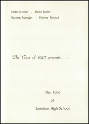 Page 7, 1947 Edition, Lewiston High School - Folio Yearbook (Lewiston, ME) online yearbook collection