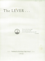 Page 5, 1958 Edition, Skowhegan High School - Lever Yearbook (Skowhegan, ME) online yearbook collection