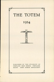 Page 7, 1924 Edition, Portland High School - Totem Yearbook (Portland, ME) online yearbook collection