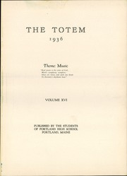 Page 5, 1936 Edition, Portland High School - Totem Yearbook (Portland, ME) online yearbook collection