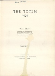 Page 7, 1939 Edition, Portland High School - Totem Yearbook (Portland, ME) online yearbook collection