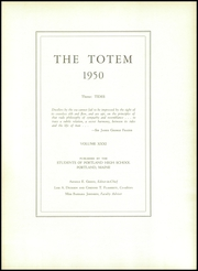 Page 5, 1950 Edition, Portland High School - Totem Yearbook (Portland, ME) online yearbook collection