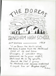 Page 5, 1958 Edition, Upper Kennebec Valley High School - Boreas Yearbook (Bingham, ME) online yearbook collection