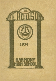 Page 1, 1934 Edition, Harmony High School - The Ferguson Yearbook (Harmony, ME) online yearbook collection