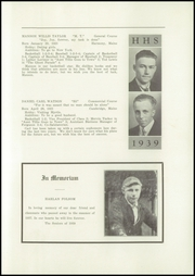 Page 11, 1939 Edition, Harmony High School - The Ferguson Yearbook (Harmony, ME) online yearbook collection