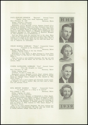 Page 9, 1939 Edition, Harmony High School - The Ferguson Yearbook (Harmony, ME) online yearbook collection