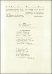 Page 11, 1937 Edition, Wilton Academy - Eagle Yearbook (Wilton, ME) online yearbook collection