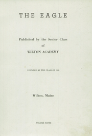 Page 3, 1947 Edition, Wilton Academy - Eagle Yearbook (Wilton, ME) online yearbook collection