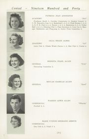 Page 12, 1940 Edition, Cony High School - Coniad Yearbook (Augusta, ME) online yearbook collection