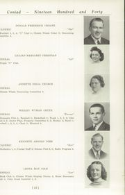 Page 17, 1940 Edition, Cony High School - Coniad Yearbook (Augusta, ME) online yearbook collection