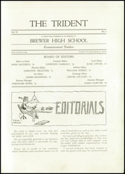 Page 7, 1921 Edition, Brewer High School - Trident Yearbook (Brewer, ME) online yearbook collection