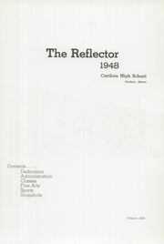 Page 5, 1948 Edition, Caribou High School - Reflector Yearbook (Caribou, ME) online yearbook collection