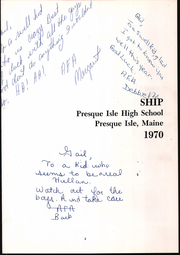 Page 7, 1970 Edition, Presque Isle High School - Ship Yearbook (Presque Isle, ME) online yearbook collection