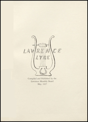 Page 5, 1927 Edition, Lawrence High School - Diary Yearbook (Fairfield, ME) online yearbook collection
