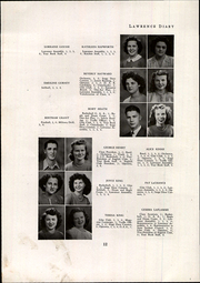 Page 14, 1945 Edition, Lawrence High School - Diary Yearbook (Fairfield, ME) online yearbook collection