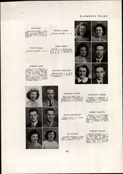 Page 16, 1945 Edition, Lawrence High School - Diary Yearbook (Fairfield, ME) online yearbook collection