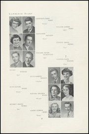 Page 11, 1950 Edition, Lawrence High School - Diary Yearbook (Fairfield, ME) online yearbook collection