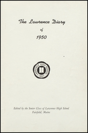 Page 3, 1950 Edition, Lawrence High School - Diary Yearbook (Fairfield, ME) online yearbook collection