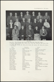 Page 6, 1950 Edition, Lawrence High School - Diary Yearbook (Fairfield, ME) online yearbook collection