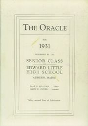 Page 5, 1931 Edition, Edward Little High School - Oracle Yearbook (Auburn, ME) online yearbook collection