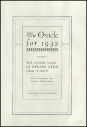 Page 7, 1932 Edition, Edward Little High School - Oracle Yearbook (Auburn, ME) online yearbook collection
