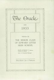 Page 5, 1933 Edition, Edward Little High School - Oracle Yearbook (Auburn, ME) online yearbook collection