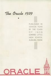Page 7, 1939 Edition, Edward Little High School - Oracle Yearbook (Auburn, ME) online yearbook collection